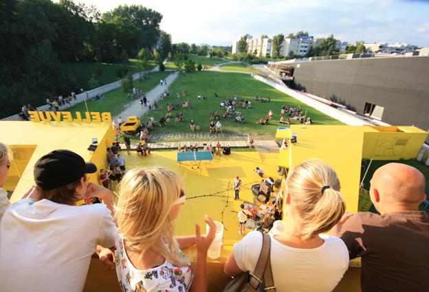 Bellevue Temporary Pavilion, Fattinger Orso Architects