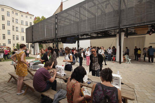 The Guggenheim Lab Pavilion in Prenzlauer Berg. Surprisingly, no one died or suffered financially from the 'intrusion.'