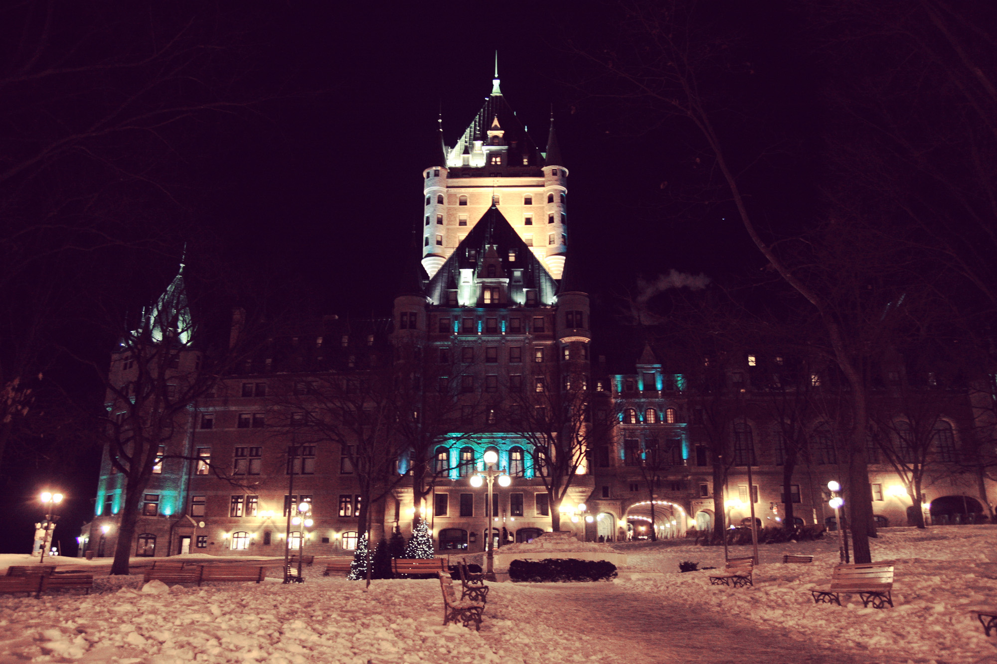 Chateau Frontenac at night