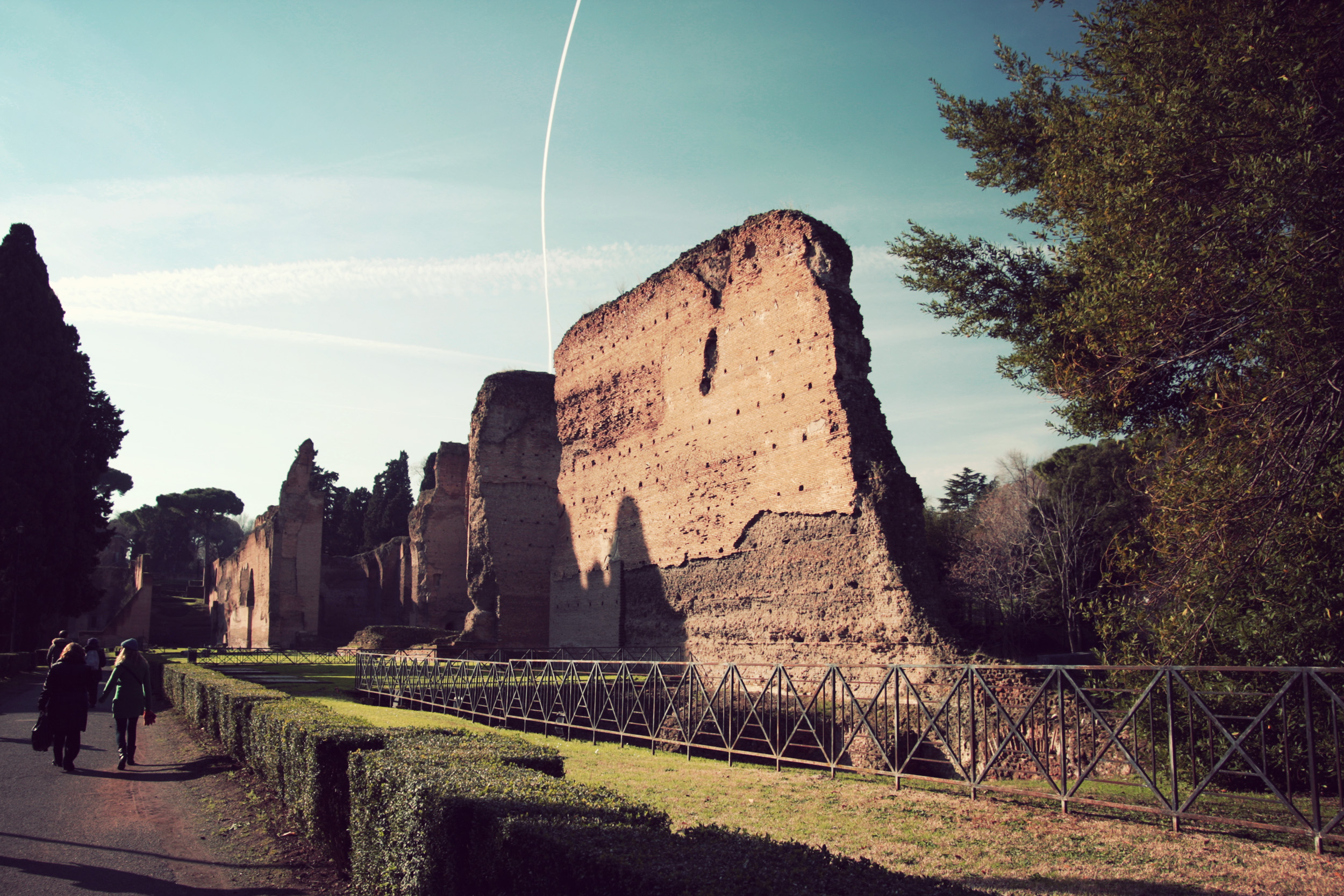 First the Catecombes, then the Baths of Caracalla.