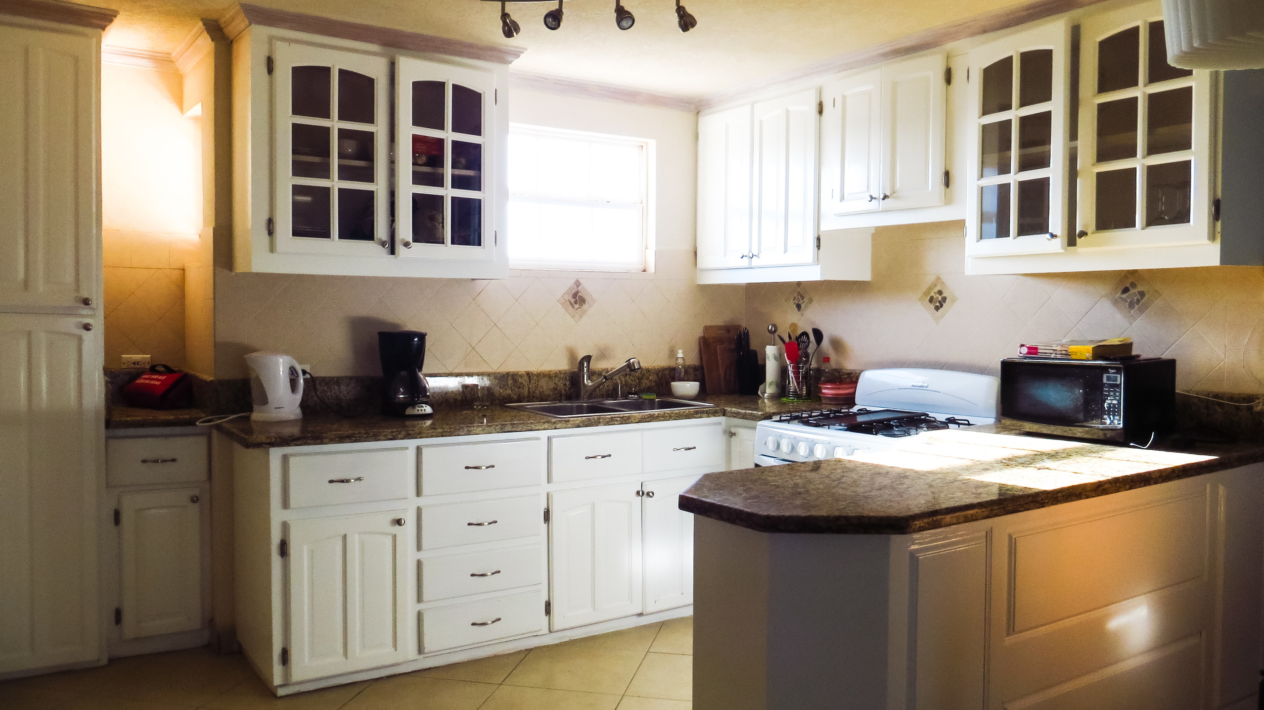 The well-appointed kitchen.