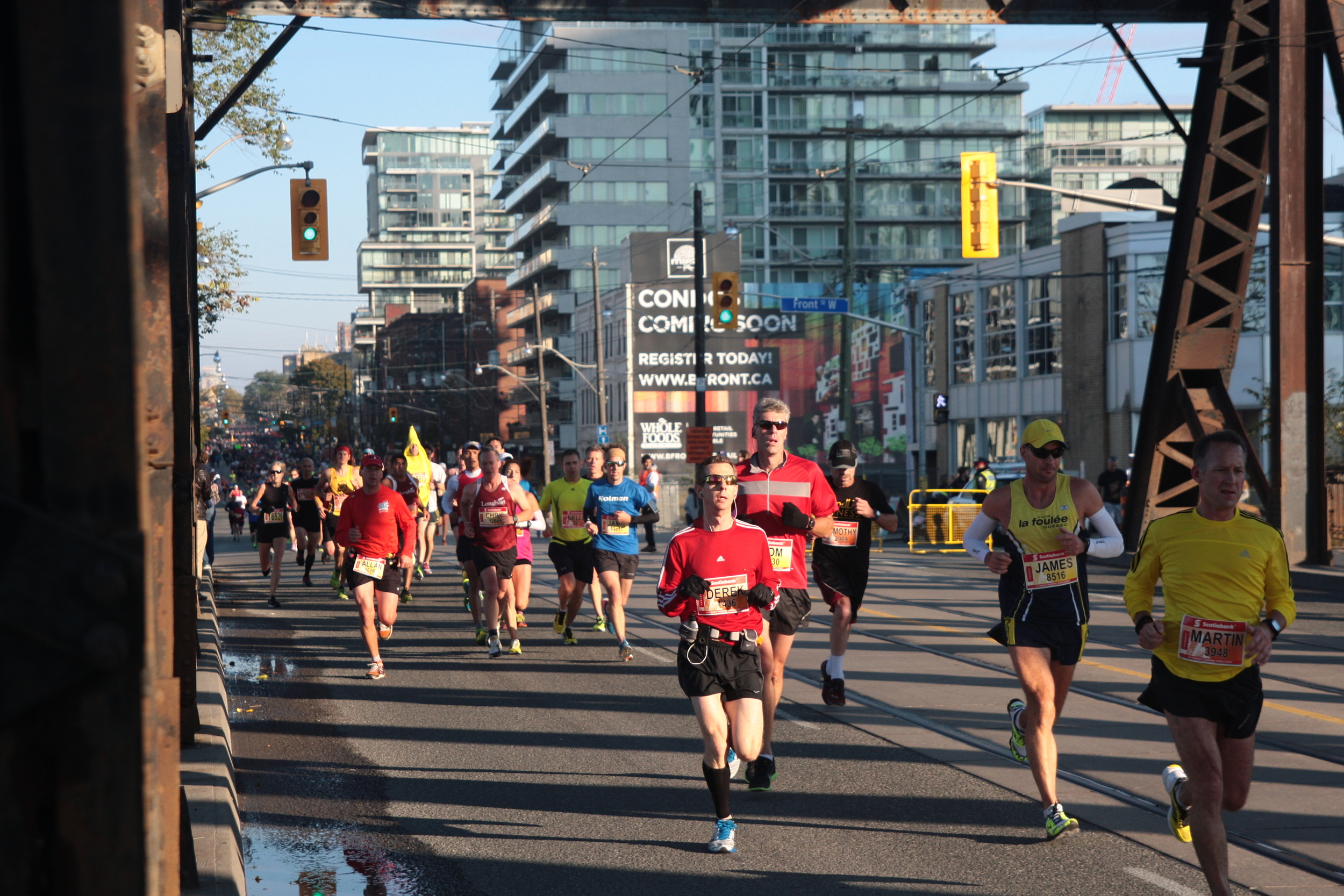 There's always at least one. Reprise from the Toronto Scotia Bank Waterfront Marathon, 2013.