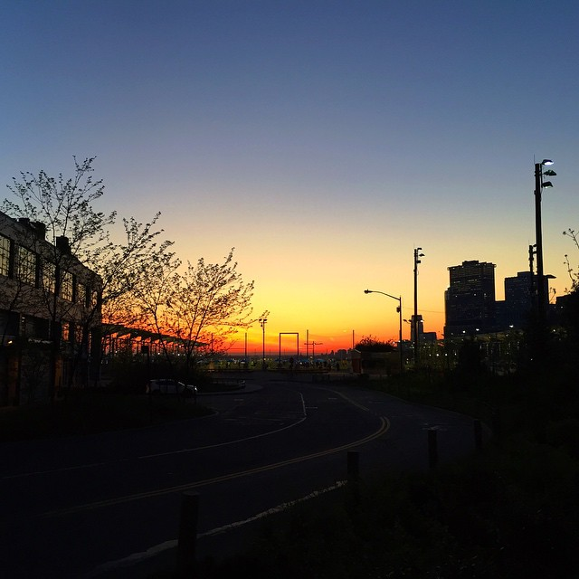 #sunset in #brooklynheights #brooklynbridgepark #summeriscoming