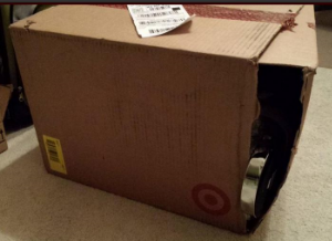 Expert packing brought to you by Target. Expert shipping provided by UPS.
