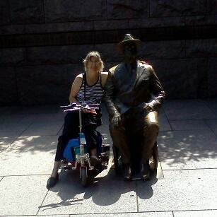 I have to say, Franklin was particularly hot that day. Very hot. Bronze statue in full sun.