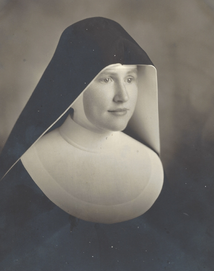 Sr. Margaret or, more properly, Sr. Mary Theonita as a young nun. I wonder if this was taken on the occasion of her final vows. It is such a beautiful photo and she looks so earnest.