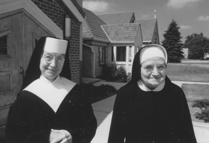 And to end with a little bit of fun, I don't know who these lovely women are, but they are such classic nuns. The photo was taken in 1987.