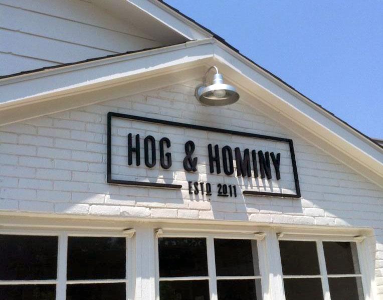 Hog & Hominy Signage