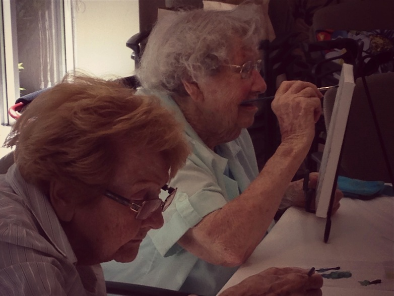 Alice, age 98 and Ethel, age 99