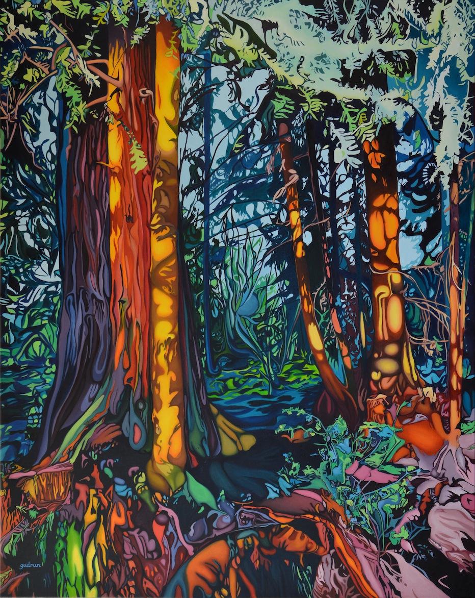 "Dream Catcher 60"" x 48"" Oil on Canvas"