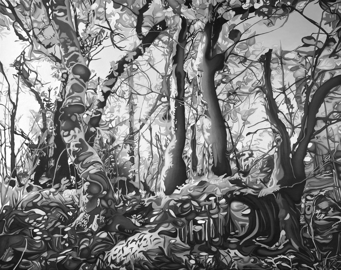 Midsummer Forest in Black and White