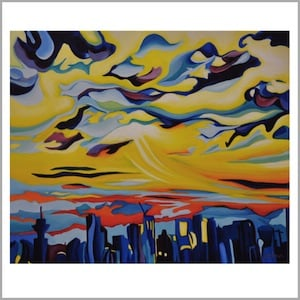Cityscape with Clouds