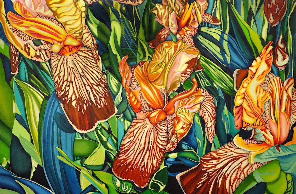 "Three Graces, 48"" x 72"", oil on canvas"