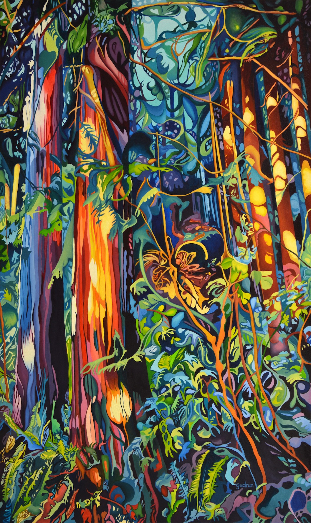 """Enchanted, 60"""" x 36"""", SOLD"""