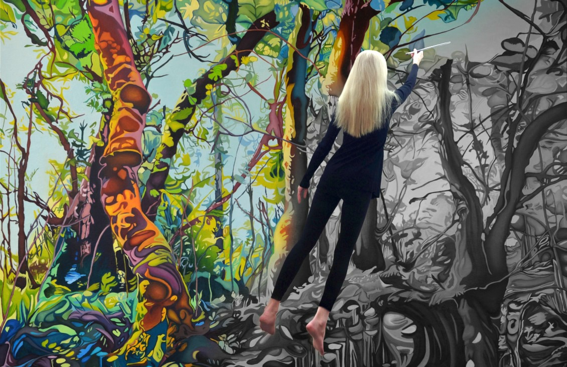 Anne Gudrun Midsummer Forest Painting