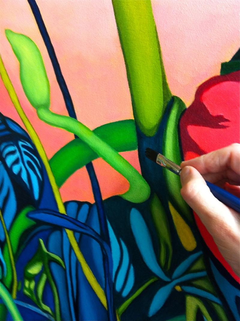 rose painting detail