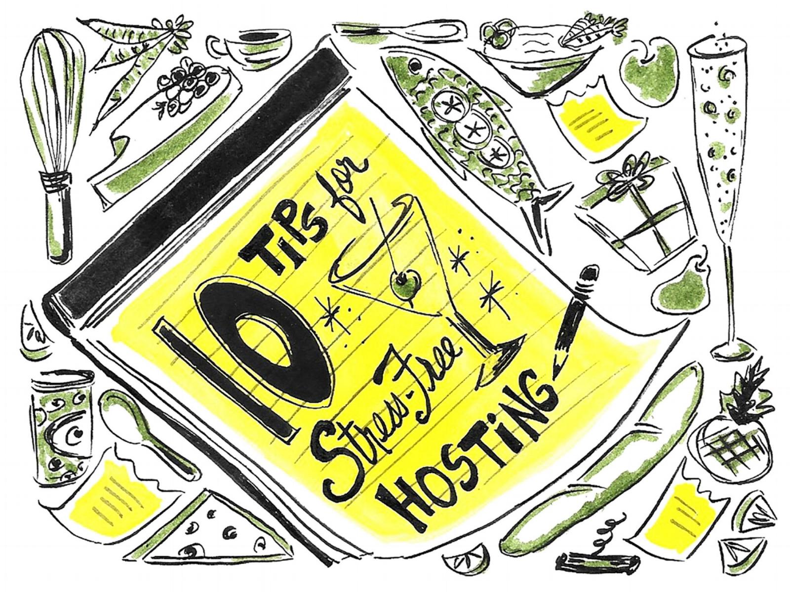 10 Tips for Stress-Free Hosting ,  FoodNetwork.com