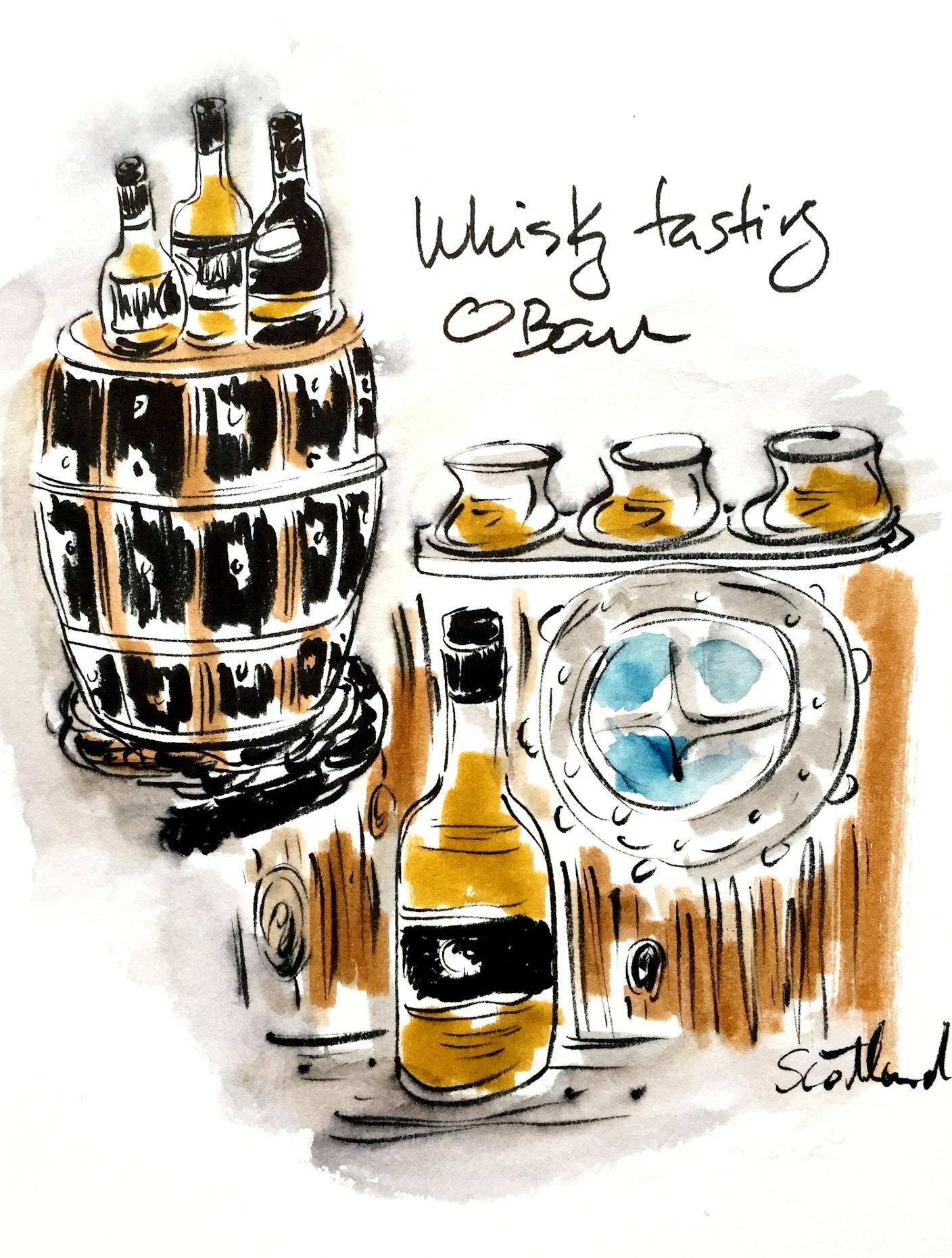 Whisky (not whiskey), Oban, Scotland