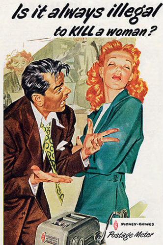 Violence against women: that's old-style hilarious