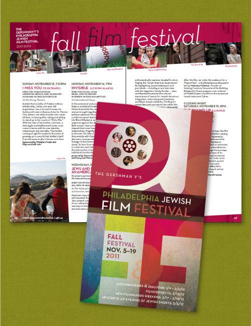 Copy of Brochure Design for Philadelphia Jewish Film Festival