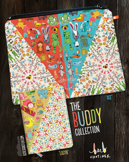 the Buddy Collection zipper pouch
