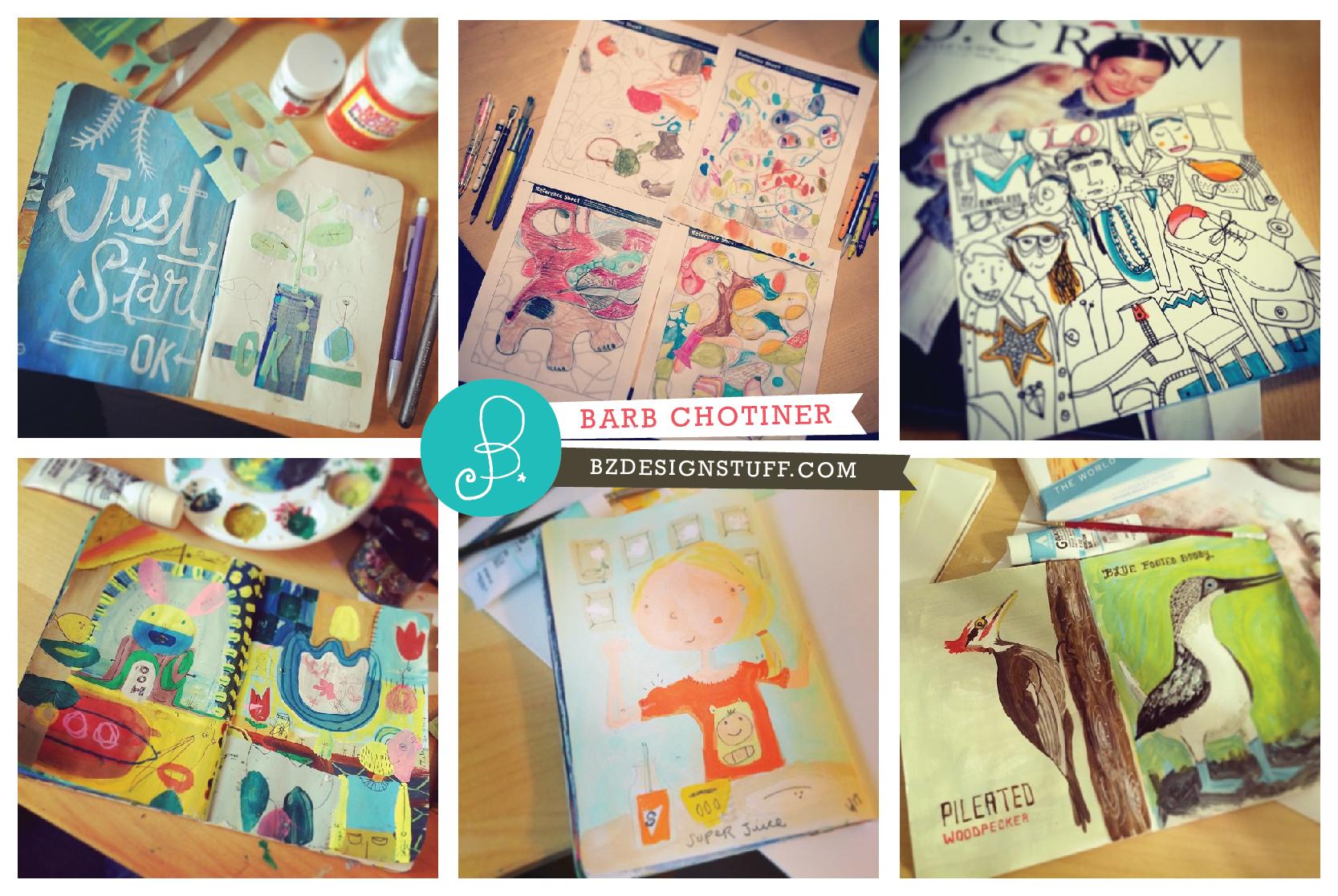 daily sketchbook paintings.