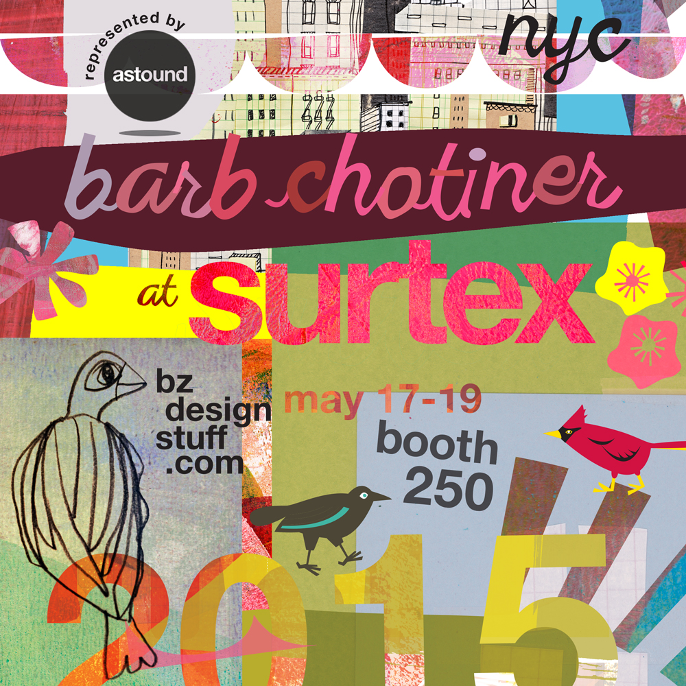 BARB CHOTINER @ SURTEX 2015 - represented by ASTOUND booth 250