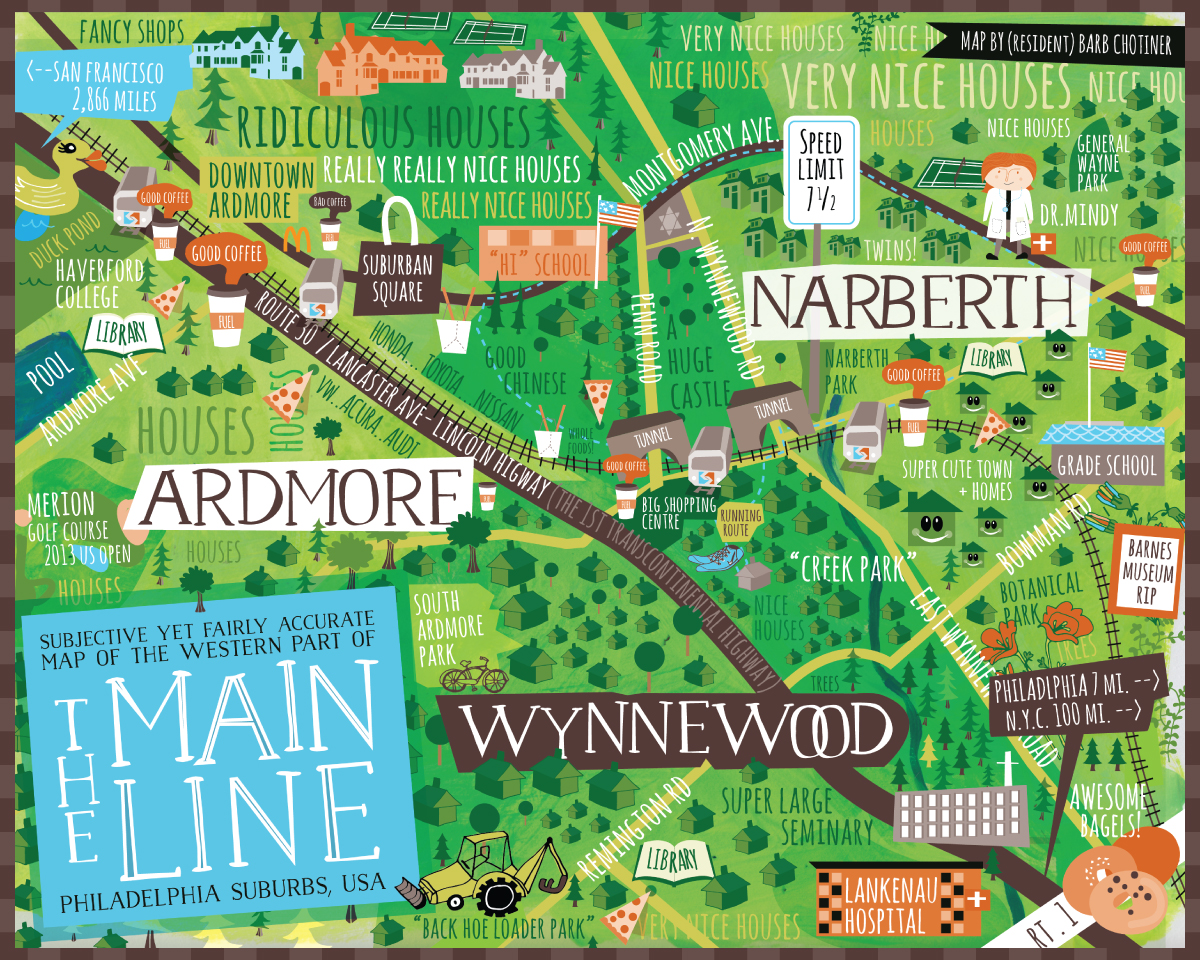 Main Line Map (fairly accurate)