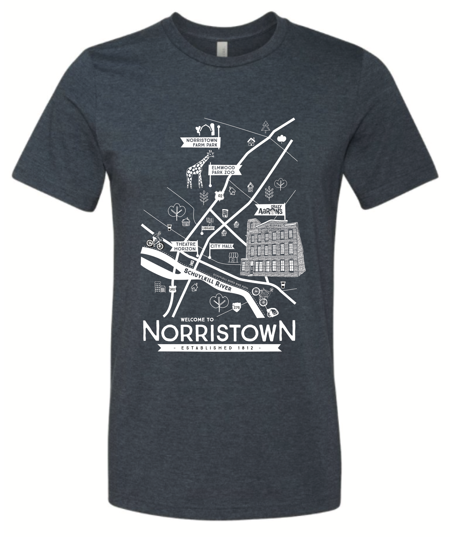 map of Norristown, client: Crazy Aarons Putty