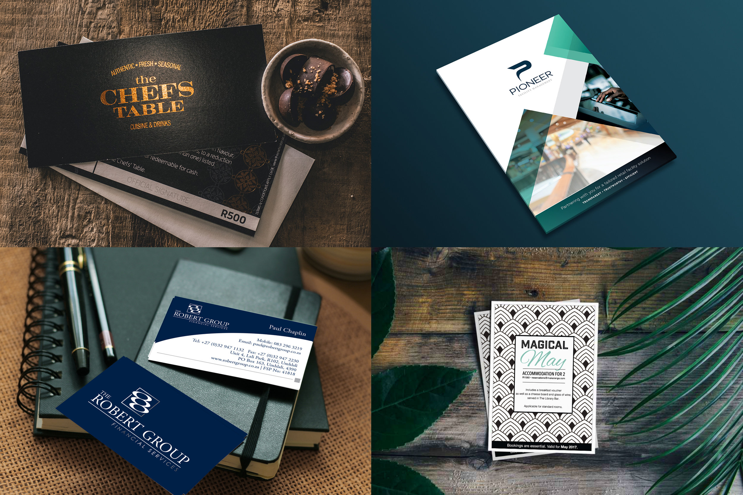 Corporate Stationery - Logo Design • Business Cards • Letterheads • Brochures • Vouchers • Folders • Comp Cards • Appointment Cards • Note Pads • Company Profiles