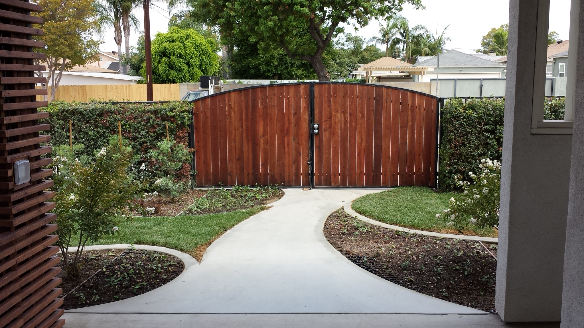 """The finished """"driveway"""""""