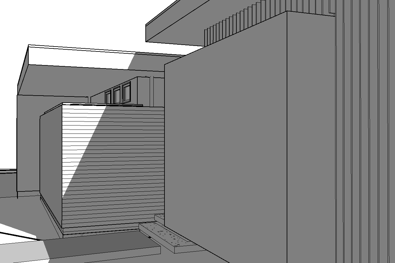 Initial rendering of the Office roof