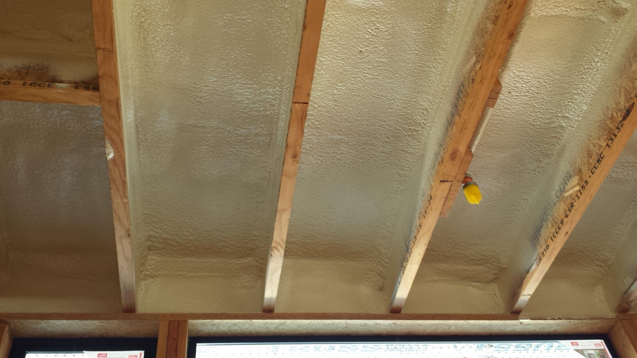 Spray Foam Insulation — keith messick   ARCHITECTURE