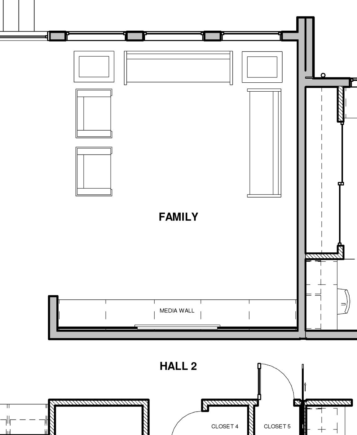 Floor Plan - Media Wall