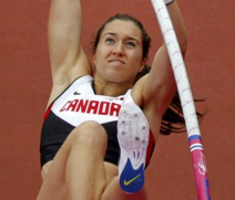 Melanie Blouin set a provincial record at 4.35m in the pole vault