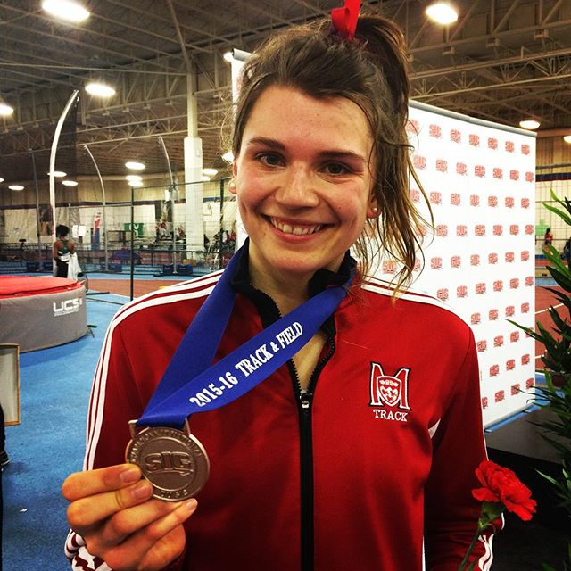 @helenareinfels wins pentathlon silver at the @cis_sic Championships. #mcgillpride