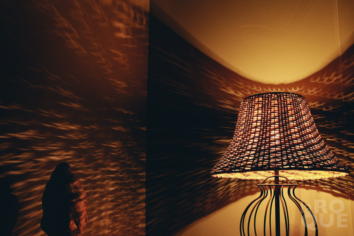 A clear bulb in our bedroom lamp. December 2014.