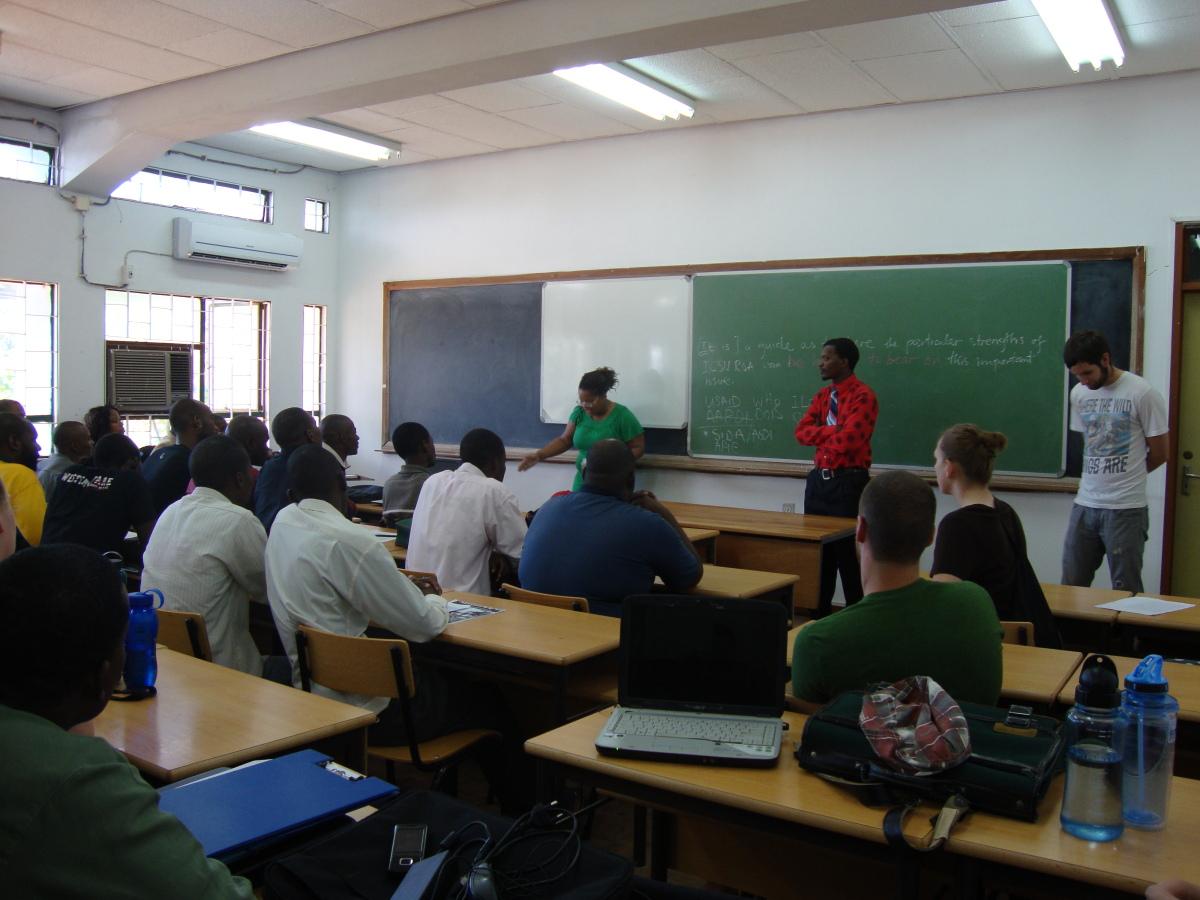 uca student sharing testimony