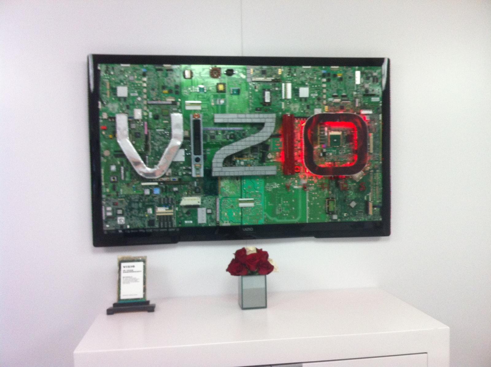 VIZIO 10 Year Anniversary Sculpture  Commissioned by VIZIO