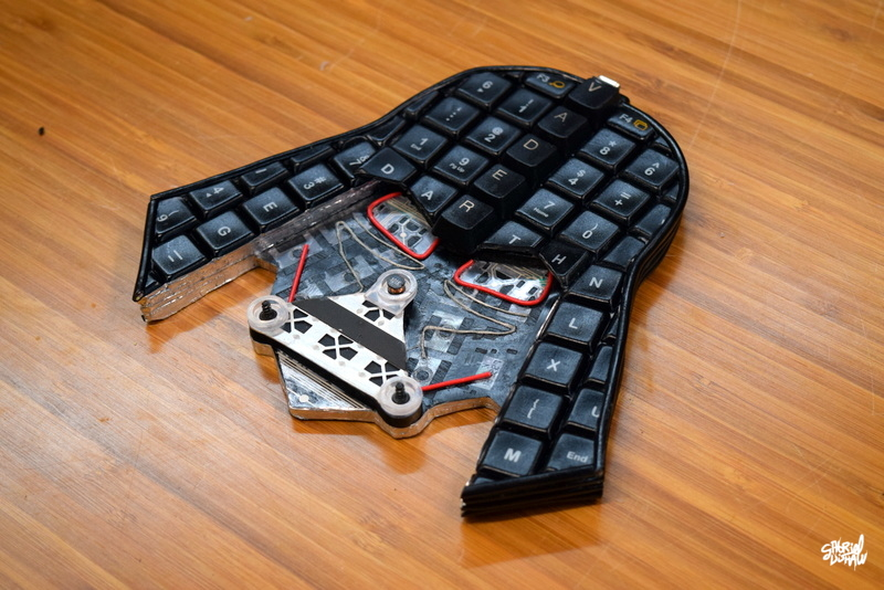Example - Finished Upcycled Keyboard Vader