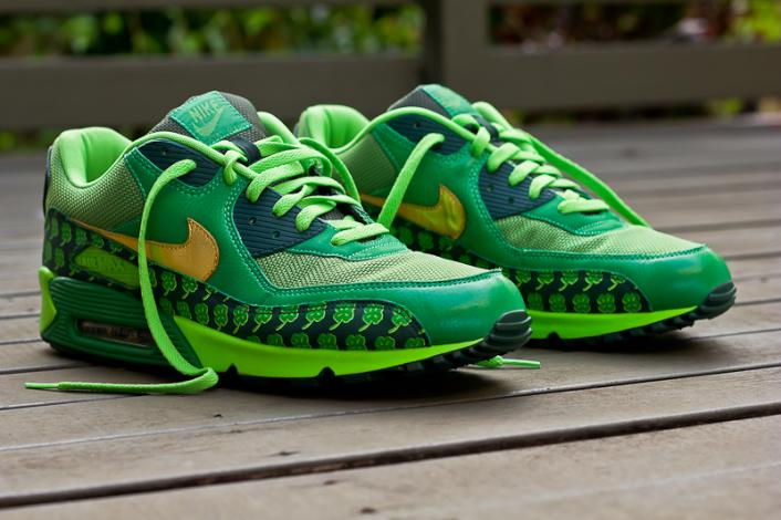 Air Max 90 Saint Patrick's Day Edition - Used in creating this piece