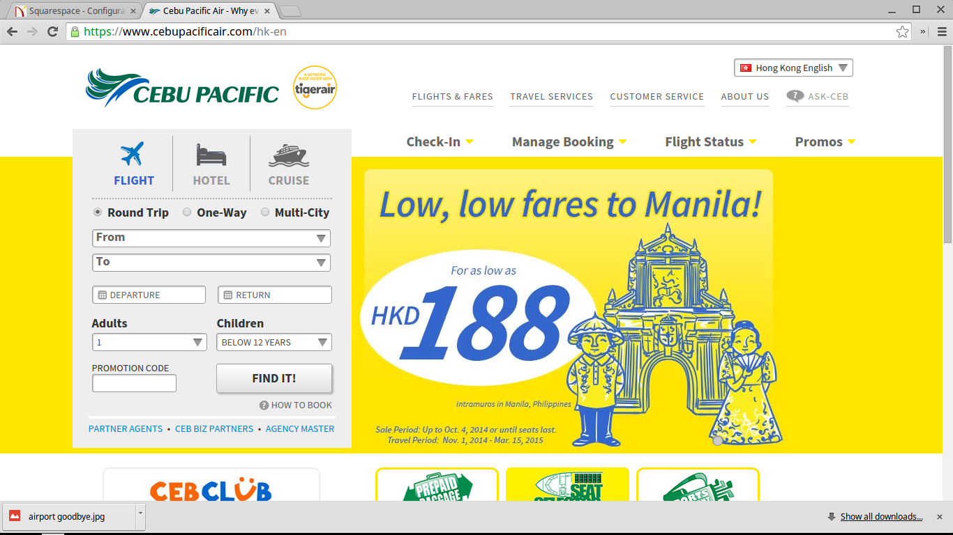 A screenshot from Cebupacificair.com taken today. LOOK! They are having a sale!
