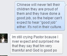 Snip from a facebook message