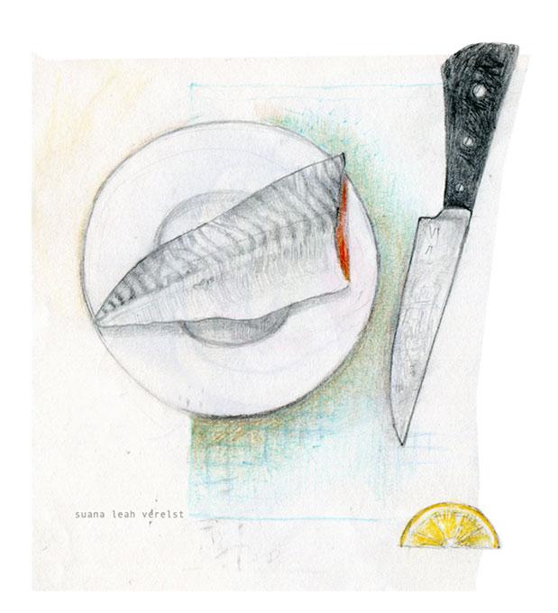 preparation of sushi