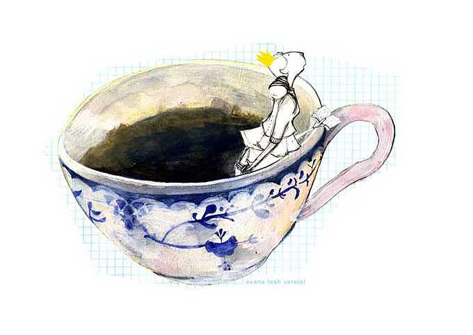 princess in the teacup