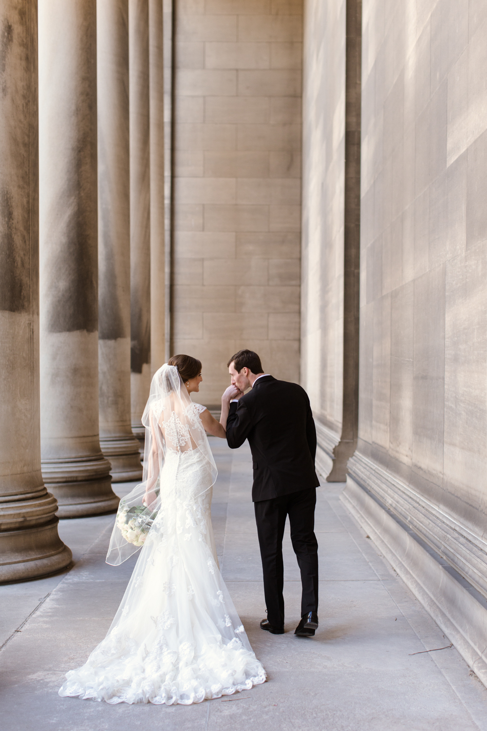 Pittsburgh Bride and Groom at Mellon Institute