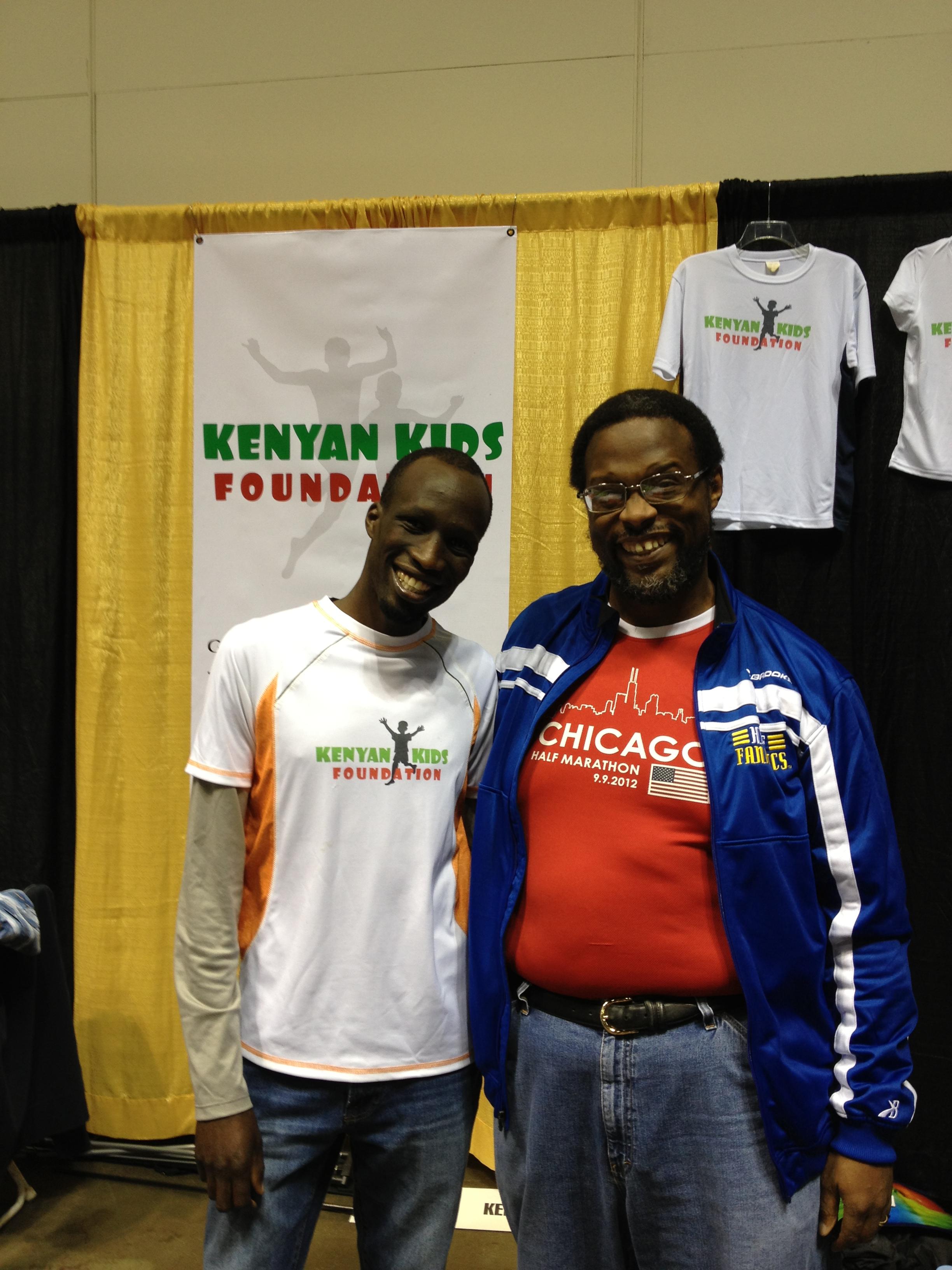 Wesley Korir and me