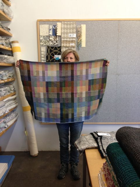 Bethanne Knudson, designer of Klee and owner of The Oriole Mill, shows off her creation for the Pavo gals.