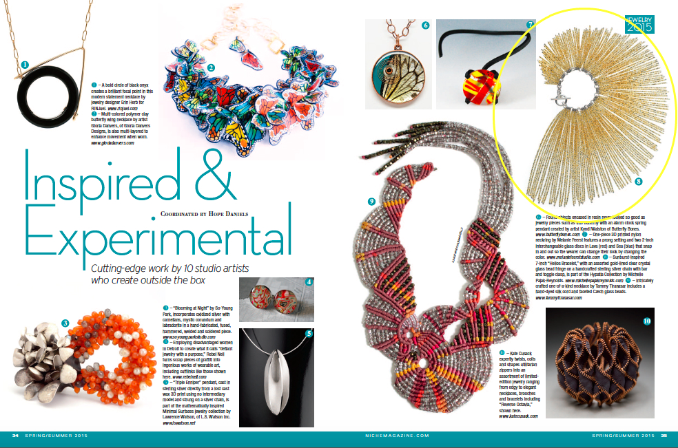 Niche Magazine Spring/Summer 2015: Jewelry Now-Inspired & Experimental
