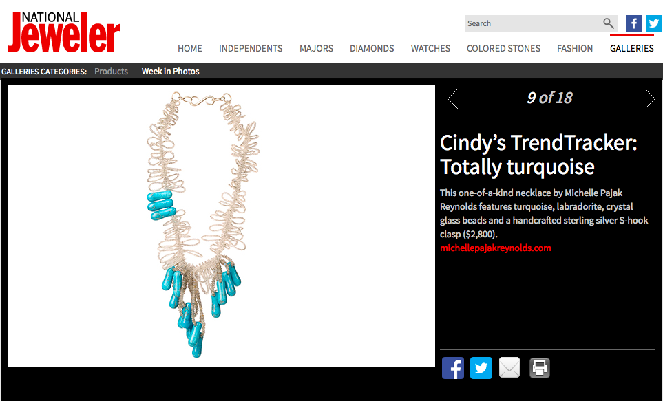 "National Jeweler: TrendTracker ""Totally Turquoise"""